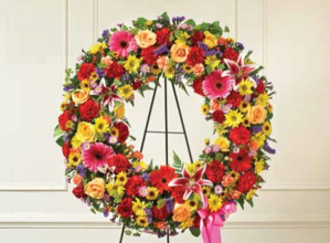 Bright Multicolor Wreath