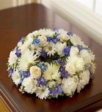 Small White & Blue Urn Arrangement