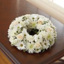 Small White Urn Arrangement