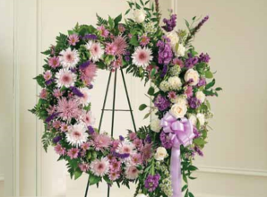 Lavender & White Wreath