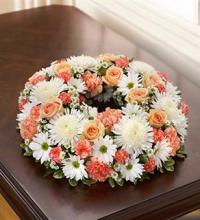 Small Peach & White Urn Arrangement