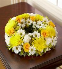 Small Yellow & White Urn Arrangement