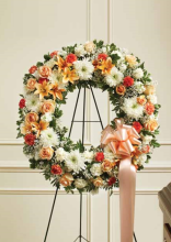 Peach & White Wreath