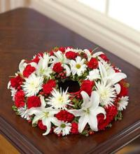 Small Red & White Urn Arrangement