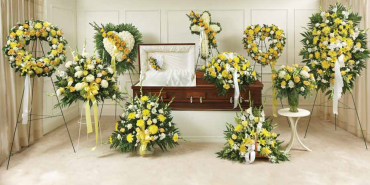 Yellow & White Sympathy Collection