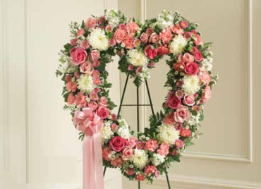 Pink & White Open Heart