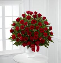 Sympathy 24 Red Roses Arrangement