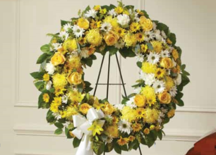 Yellow & White Wreath